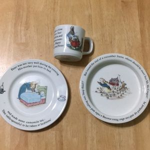 Wedgewood Peter Rabbit Nursery Set